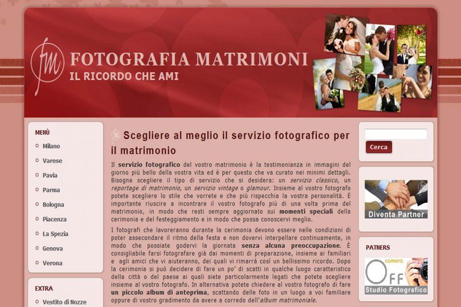 Fotografiamatrimoni.it - Sito Web
