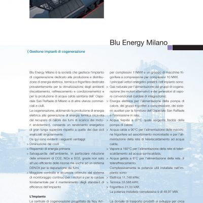 Gruppo Green Holding - Brochure - Scheda Blu Energy Milano