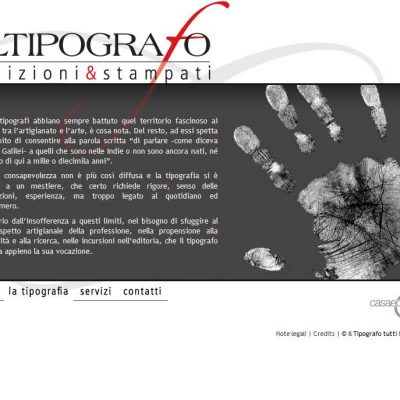 Il Tipografo - Sito internet - Pagina interna
